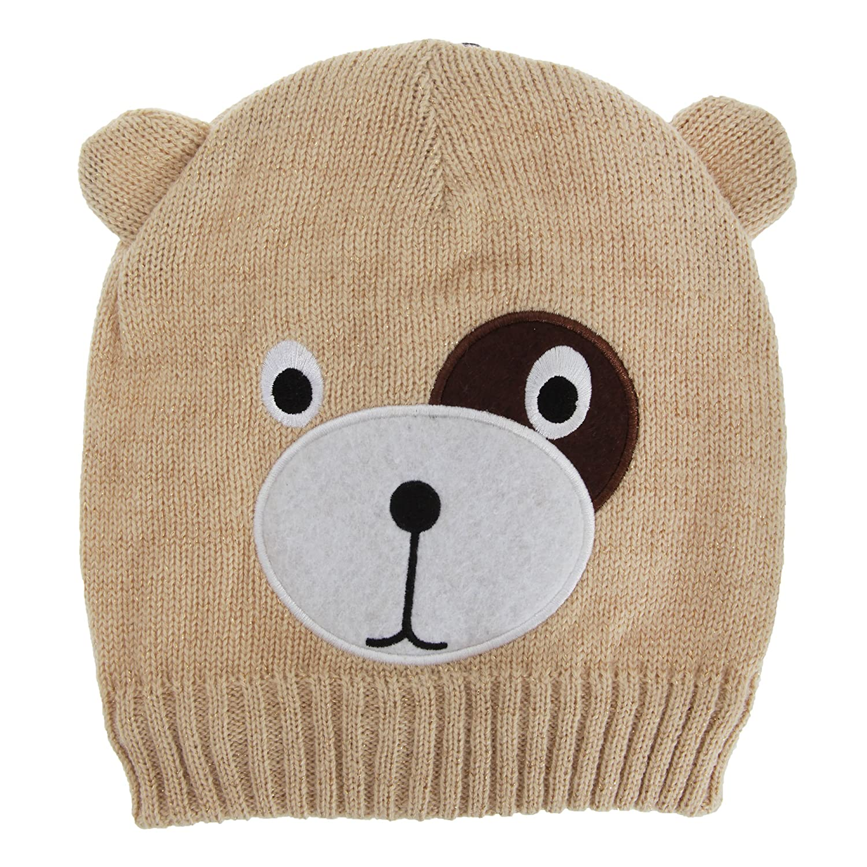 Childrens//Kids Big Girls Teddy Bear Design Winter//Ski Hat with Inner Lining