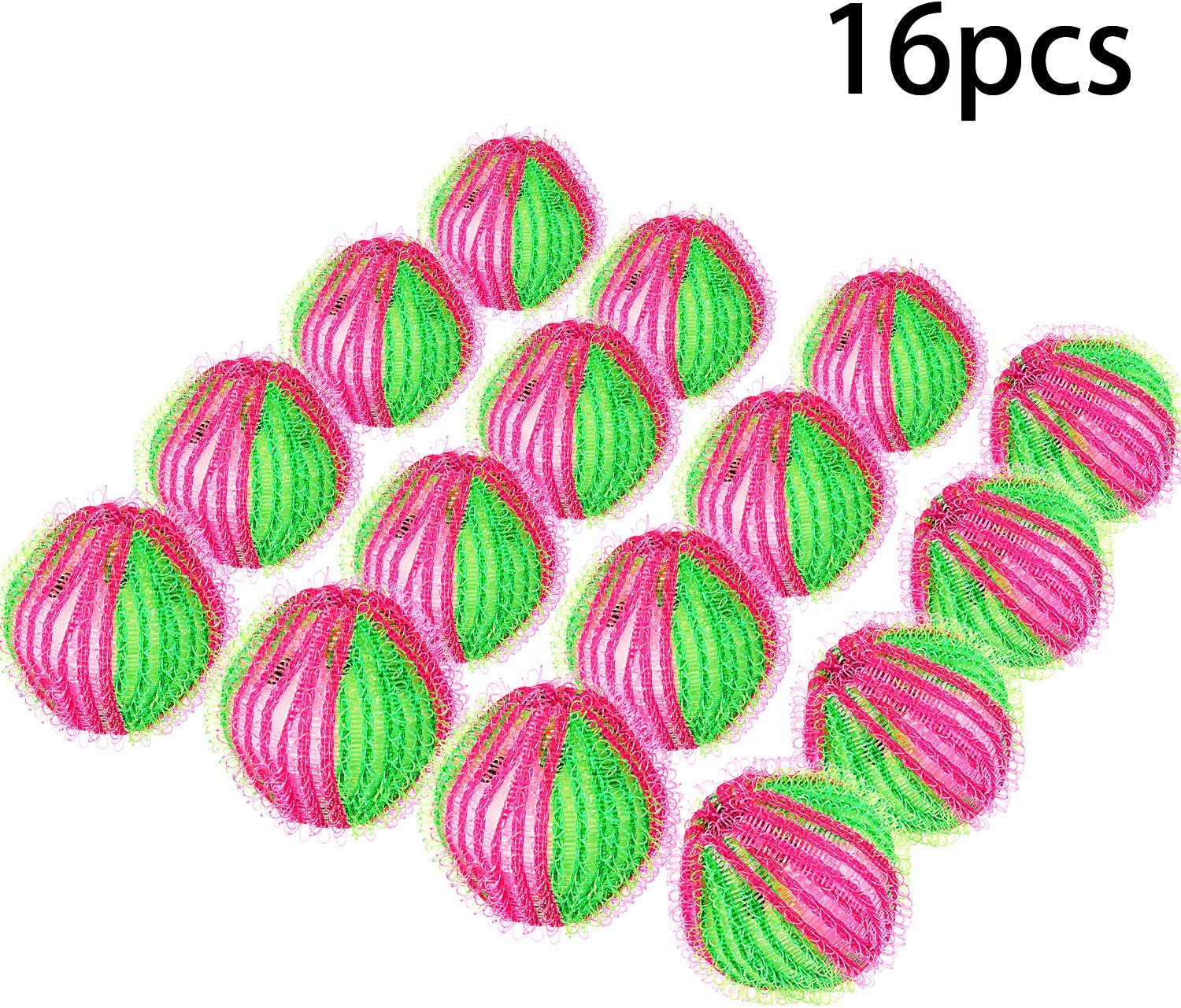 16 Pack Washing Ball Lint Remover Balls Laundry Wash Balls Magic Hair Removal Plastic Laundry Ball to Save Drying Time