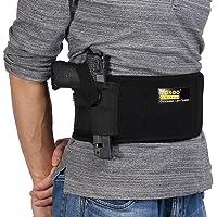 Tactique de Sécurité Ceinture Abdominal de Dissimuler Pistolet Réglable Bande Protection de Taille Étui de Revolver 44 Pouce pour Porter Pistolet Noir