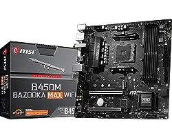MSI Arsenal Gaming AMD Ryzen 1st, 2nd, and 3rd Gen AM4 M.2 USB 3.2 DDR4 HDMI WiFi Micro-ATX Motherboard (B450M Bazooka MAX Wi