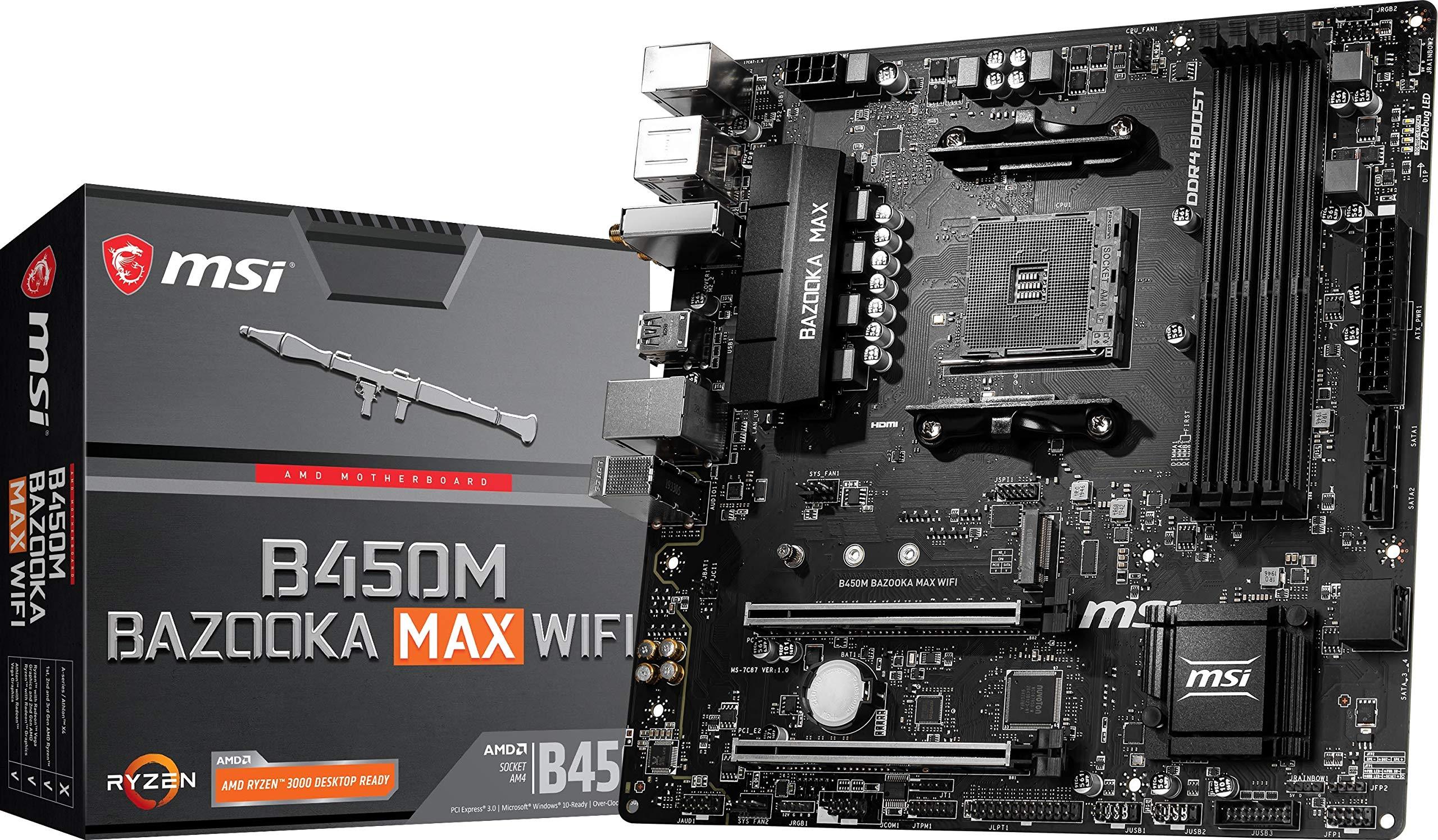 Motherboard MSI B450M BAZOOKA MAX WIFI Socket AM4
