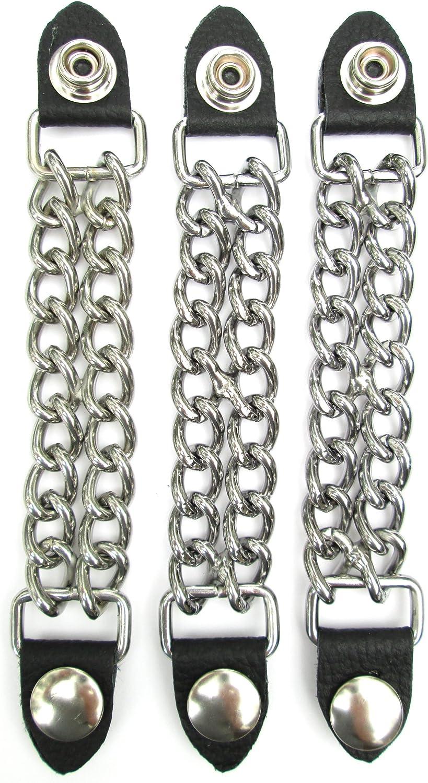 Vest Extenders Leather & Double Chain 3 Pieces