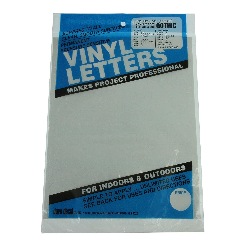 Amazoncom Duro Decal Permanent Adhesive Vinyl Letters