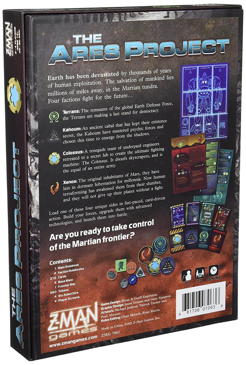Amazoncom The Ares Project Card Game Toys Games
