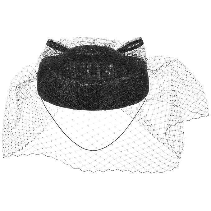 McBURN Cappello Pillbox con Veletta per Donna  4211bf664826
