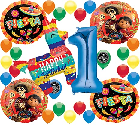 Coco Birthday Party Supplies Fiesta Choose Your Own Age 1 50 Deluxe Balloon