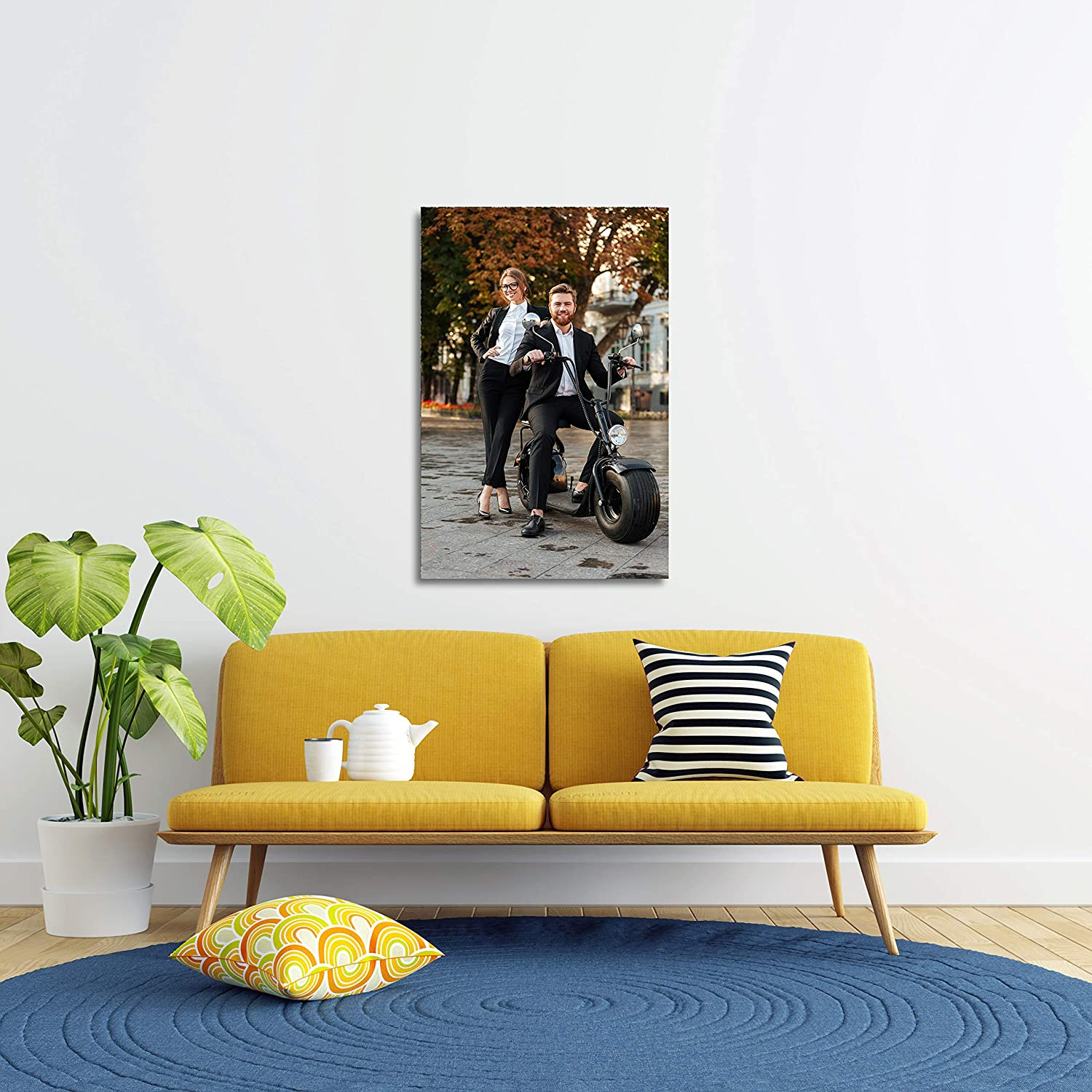 Personalized Family Picture Photo Print Wall Art 4bestprint Photo Canvas Your Image 8 x 10 Customize Your Photo for Perfect Picture for Living Room Kitchen Ready to Hang Framed Canvas Prints from Photos