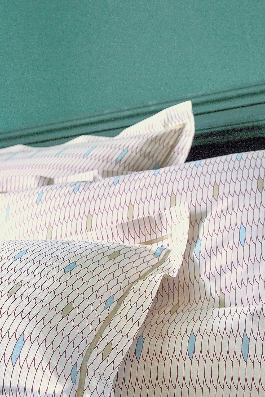 Blanc des Vosges Belle Epoque Taie, 100% Coton, Bois de Rose, 50 x 75 cm Francois hans Belle époque