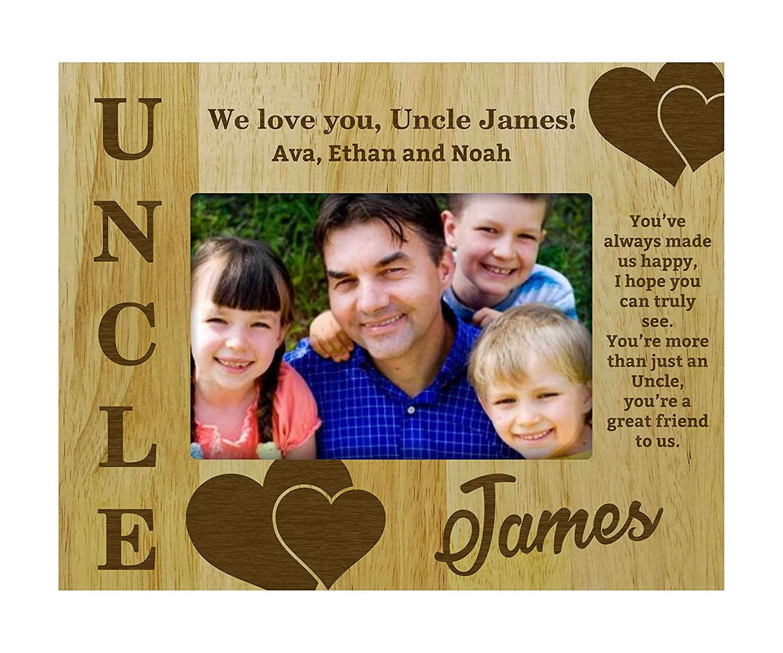 Amazon.de: Personalisierte Best Onkel Geschenk Holz gravierte ...