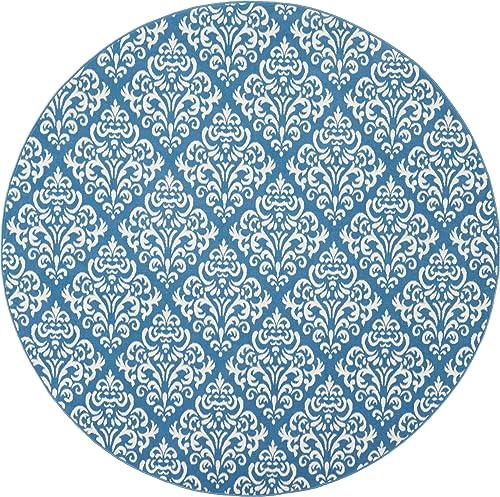 Nourison Grafix Blue Area Rug 8 x 8 , 8 ROUND