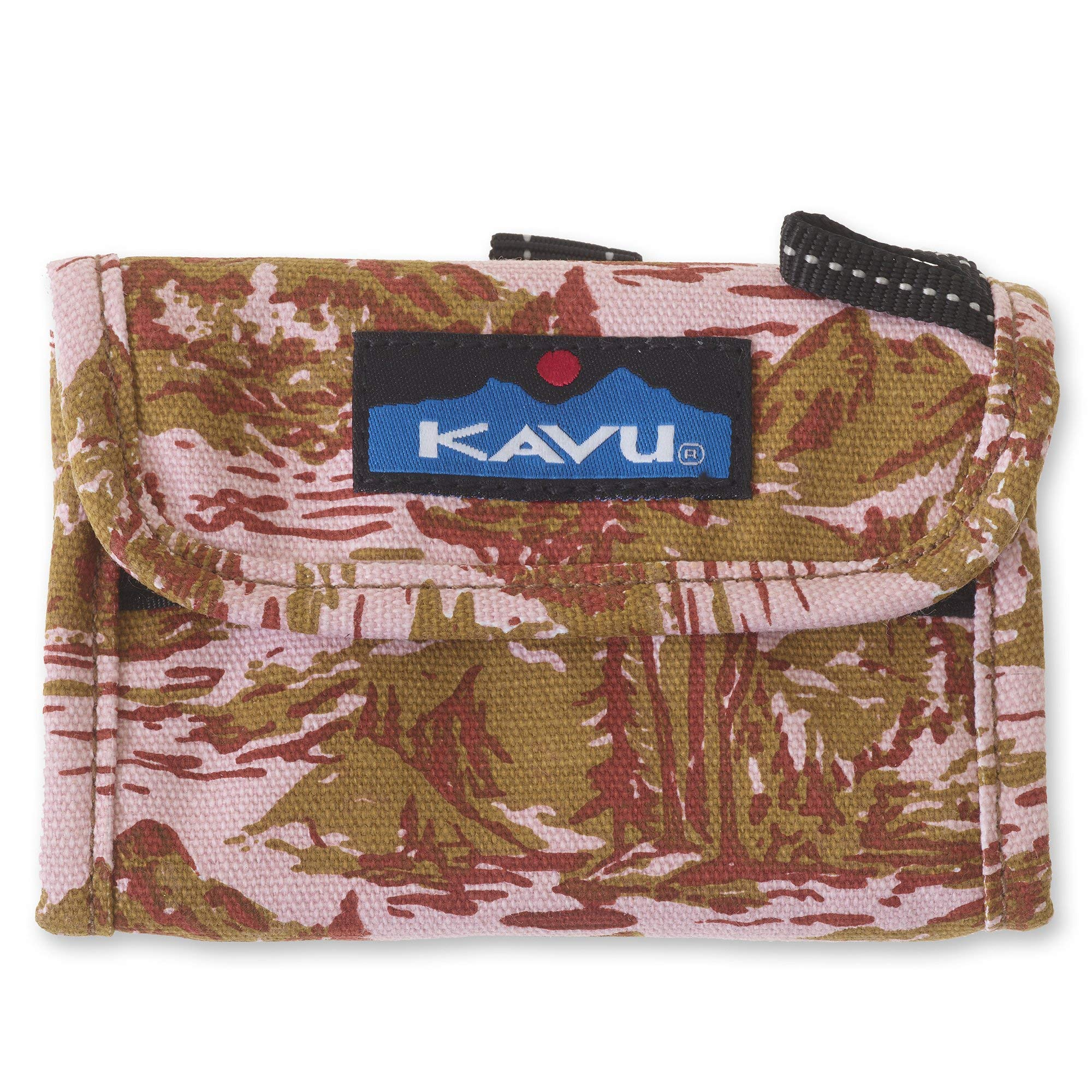 KAVU Wally Trifold Wallet For Women with Coin Pocket and Key Ring - Blush Landscape