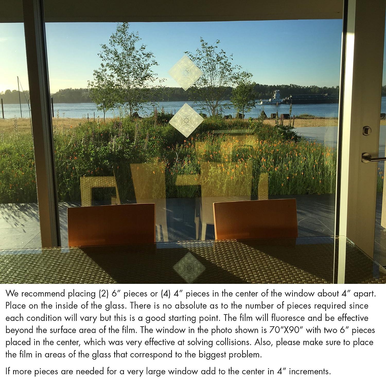 Birds Eye View Clear//Etched Window Deflector 4 X 4