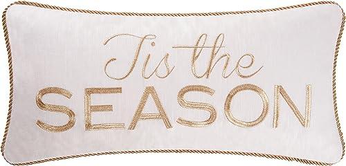 12X24 Embroidered Pillow, Tis The Season