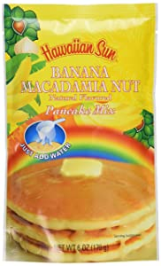 Banana Macadamia Nut Pancake Mix, 6 Ounce by Hawaiian Sun