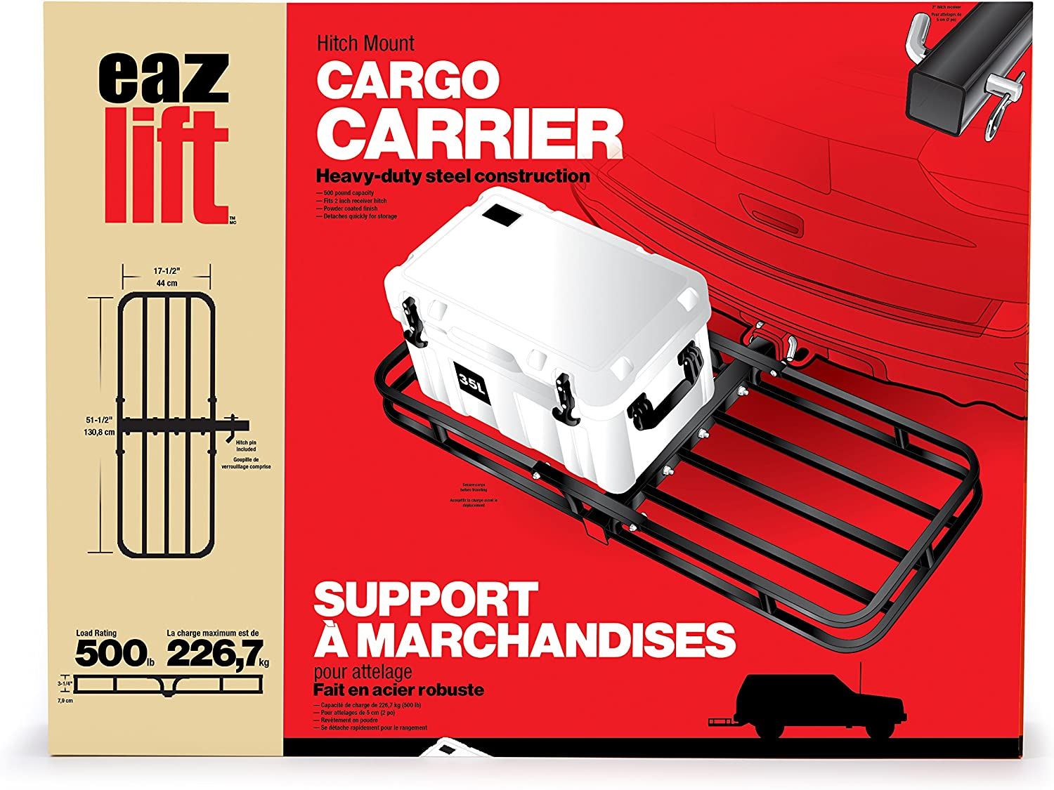 Eaz Lift Camco 48475 Hitch Mount Cargo Carrier