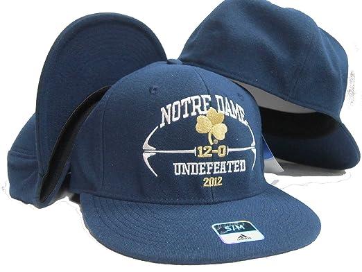 f4deff9a2 Amazon.com: Navy Flat Brim T-shirt Hook Hat / Cap S/M - Notre Dame ...