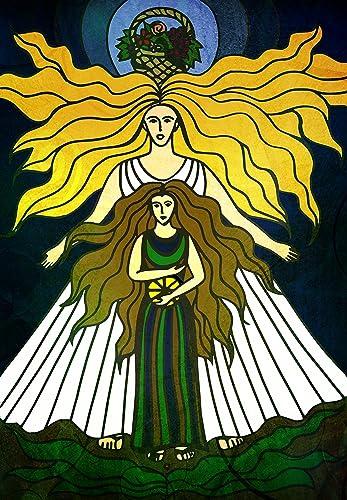 Amazon Pagan Greek Goddesses Demeter And Persphone Poster Print