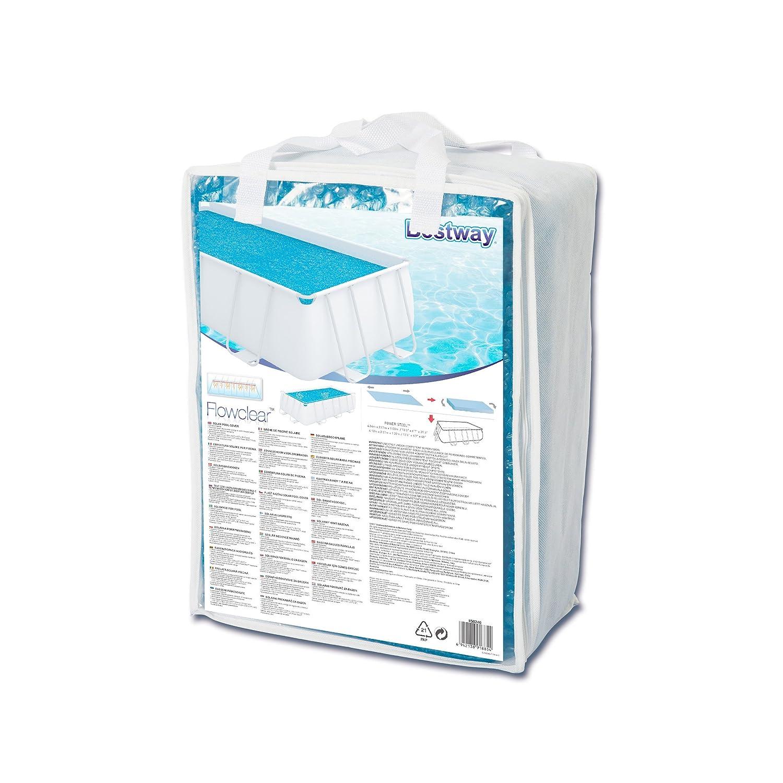 Bestway 58240 - Cobertor solar Manta Térmica para piscinas rectangulares, 380 x 180 cm: Amazon.es: Jardín