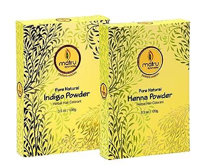 Matru Ayurveda Mehndi Henna 100gms Indigo 100gms Powder