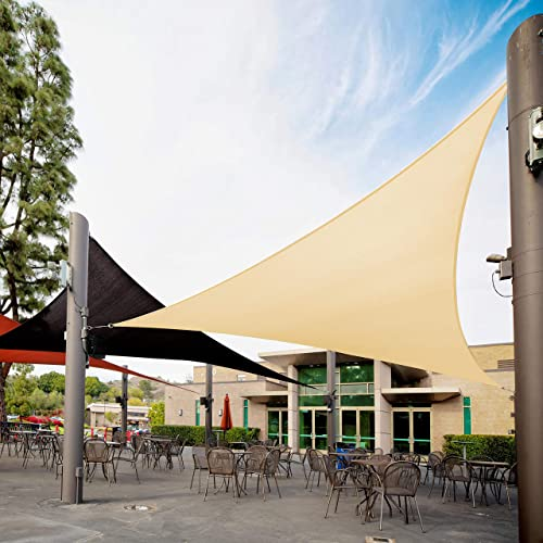 Royal Shade Right Triangle 16' x 24' x 28.8' Beige Custom Size Order to Make Sun Shade Sail RTAPT12 Canopy Mesh UV Block Triangle