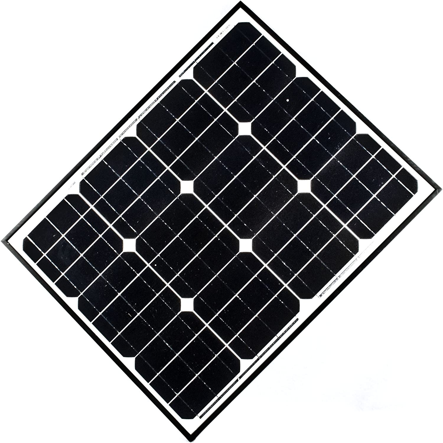 ALEKO SP50W12V 50 Watt 12 Volt Monocrystalline Solar Panel for Gate Opener Pool Garden Driveway