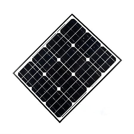 ALEKO SP50W12V 50 Watt 12 Volt Monocrystalline Solar Panel for Gate Opener Pool Garden Driveway