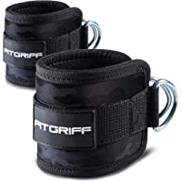 Fitgriff® Ankle Straps for Cable Machines - Padded Ankle Cuffs (2 pieces) - Gym, Workout, Kickback Exercise for Women…