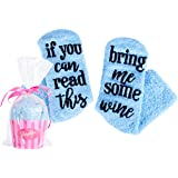 Wine Socks with Cupcake Packaging If You Can Read This Bring Me Some Wine