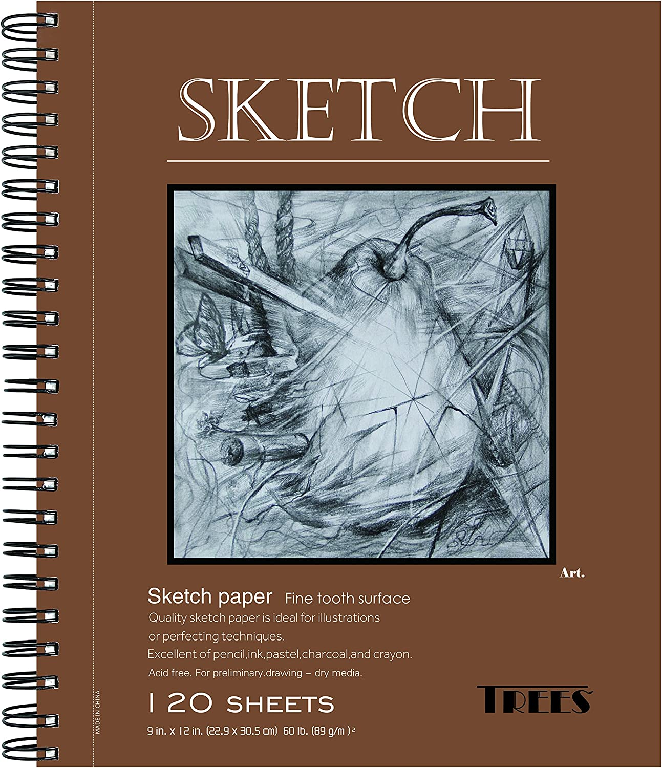 "Strathmore 455-3 400 Series Sketch Pad 9/""x12/"" Wire Bound 100 Sheets Heavyweight"