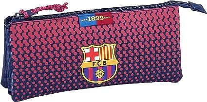Safta Estuche Escolar F.C. Barcelona Corporativa Oficial, 220x30x100mm: Amazon.es: Oficina y papelería