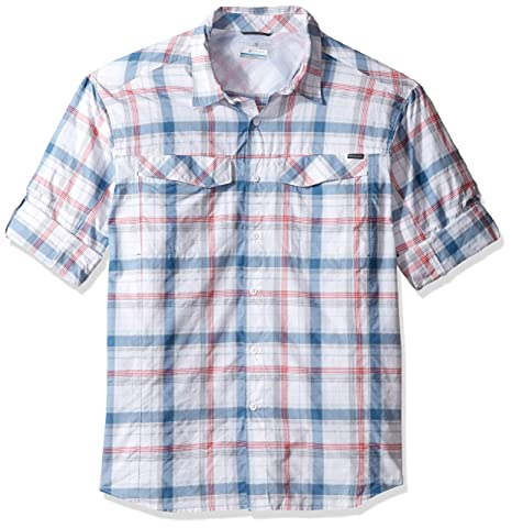 0476326d2a2 Image Unavailable. Image not available for. Color: Columbia Men's Big-Tall Silver  Ridge Plaid Long Sleeve Shirt ...