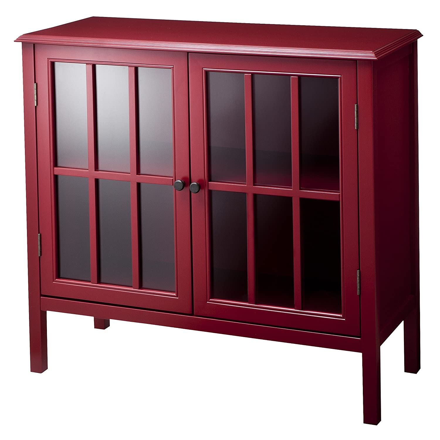 Amazon.com: Windham Threshold Cabinet - Red: Kitchen & Dining