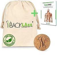 BACKLAxx Fascia Ball Kurk naar de Fascie Massage - 5cm Massagebal - Fascia Bal, Lacrosse Bal, Fasciabal, Massageball