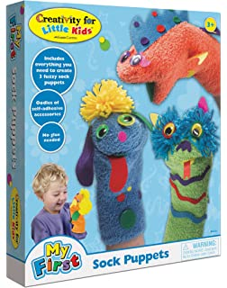 amazon com melissa doug make your own fuzzy monster puppet kit