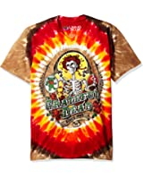 Liquid Blue Men's Grateful Dead Bay Area Beloved Tie Dye Short Sleeve T-Shirt