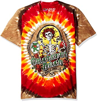 e0962025011 Liquid Blue Men s Grateful Dead Bay Area Beloved Tie Dye Short Sleeve T- Shirt