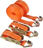 Braun 1000-2-600+3040/VE2 Sangle d'arrimage à cliquet et crochets 2000 daN, 6 m x 35 mm (Orange)