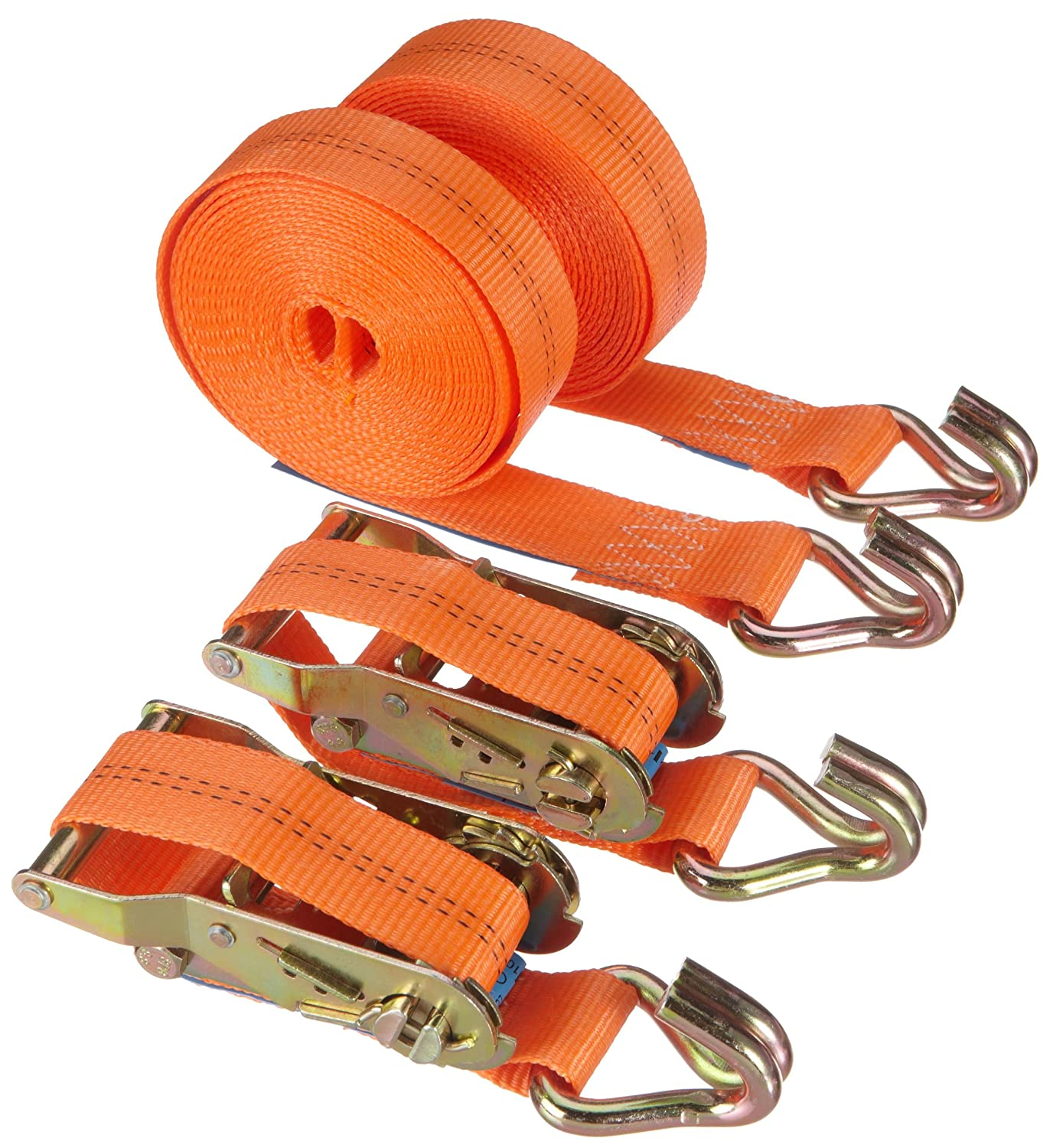 Braun 1000-2-600+3040/VE2 Sangle d'arrimage à cliquet et crochets 2000 daN, 6 m x 35 mm (Orange) 6 m x 35 mm (Orange) Braun GmbH