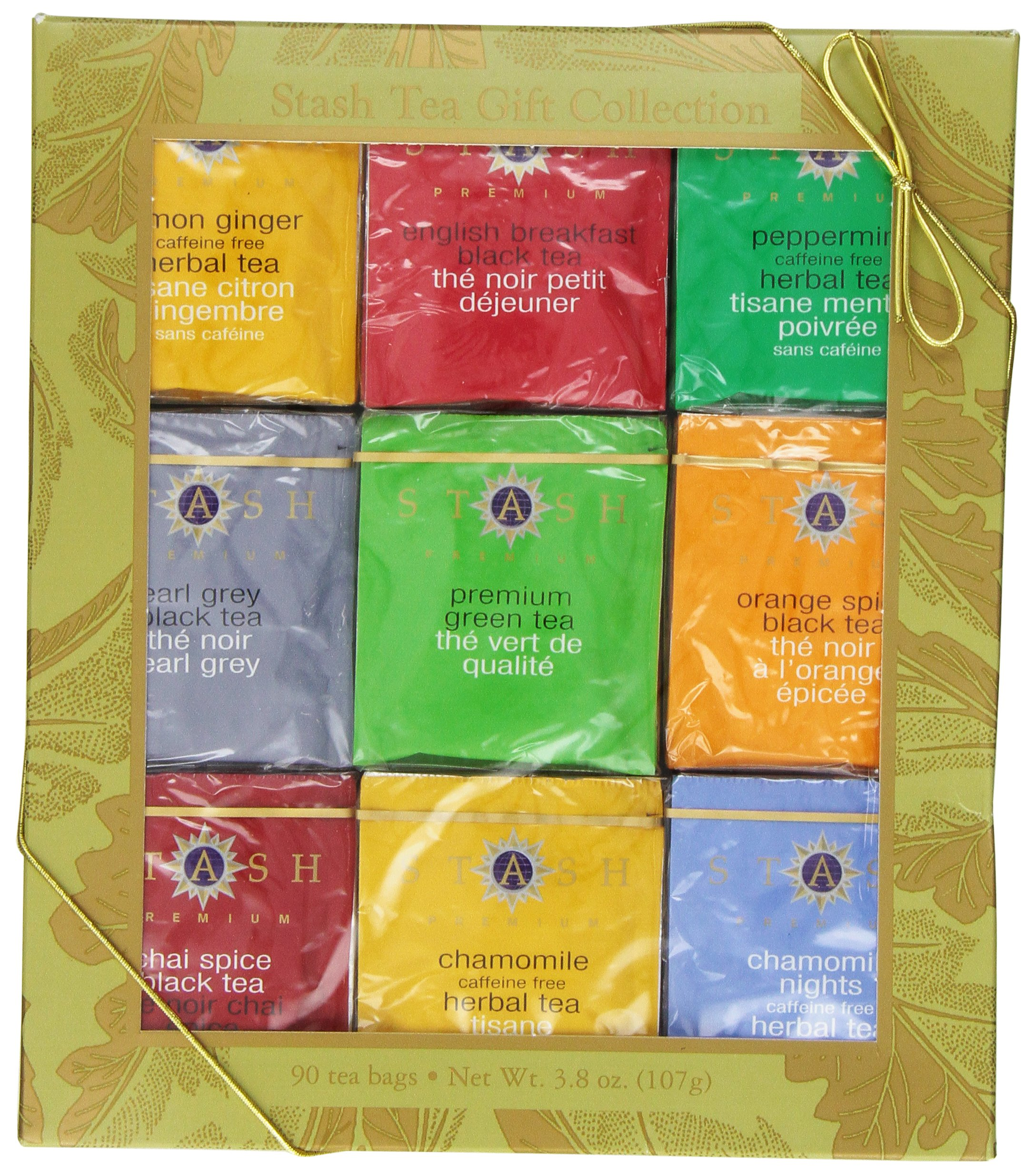 Stash Tea Gold Leaf Nine Flavor Gift Box