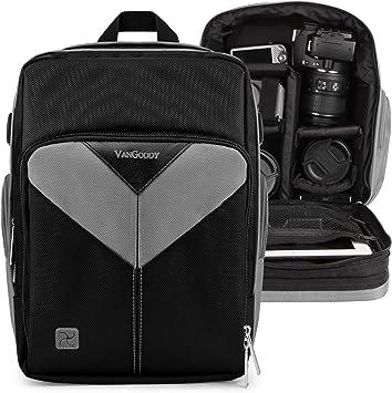 Sparta Travel Nylon Backpack Bag for Nikon D4 D4 Series D40 Red, Black and Screen Protector and Mini Tripod D4s D40x Digital SLR Camera
