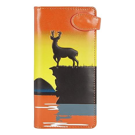 Shagwear Monederos para mujeres jóvenes: Varios colores y diseños: (alce naranja / elk orange)