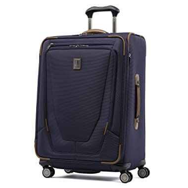Travelpro Luggage Crew 11 25  Expandable Spinner Suitcase w/Suiter, Patriot Blue