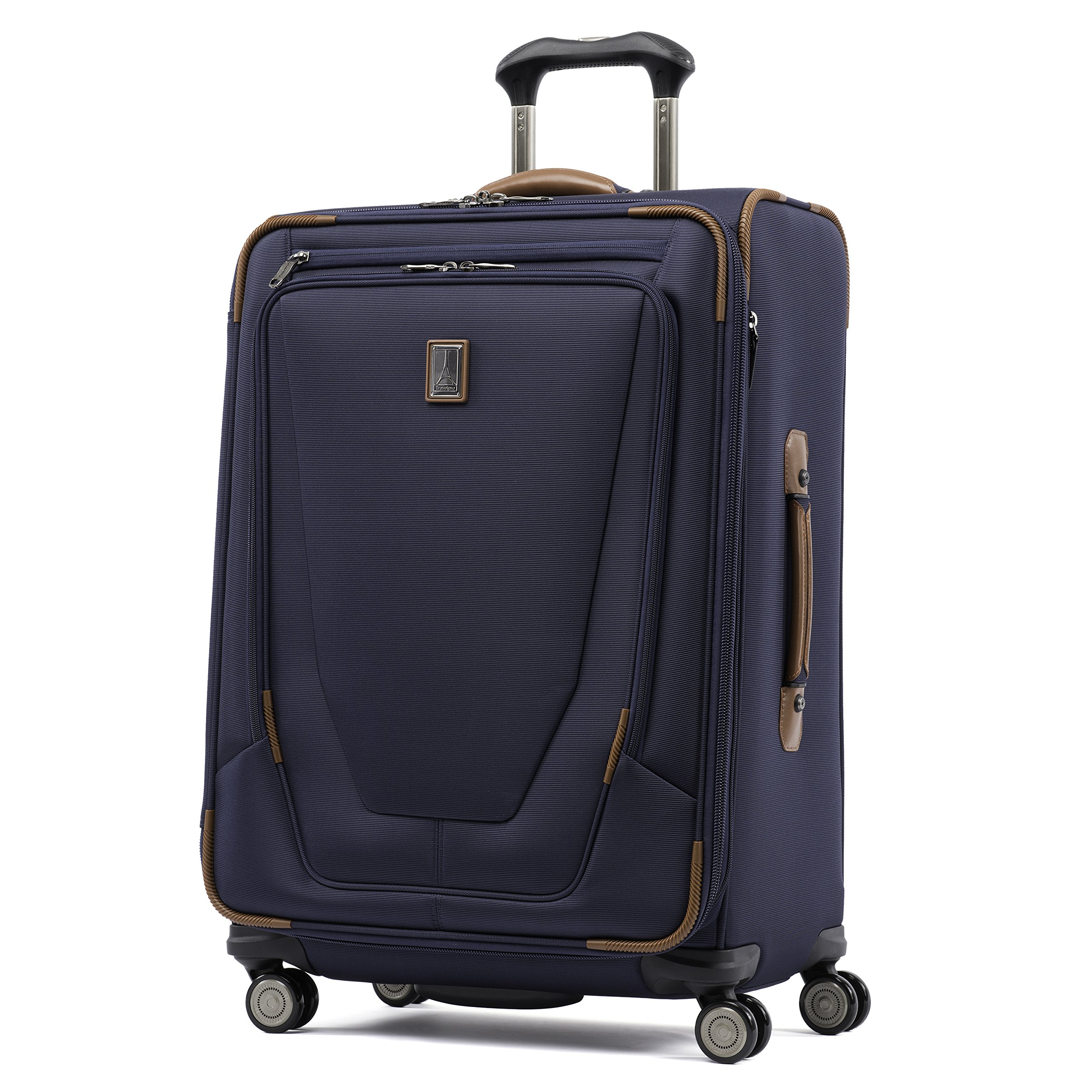 Travelpro Luggage Crew 11 25'' Expandable Spinner Suitcase w/Suiter, Patriot Blue