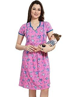 fb5f570d18cda AV2 Women's Cotton Maternity and Feeding Nighty: Amazon.in: Clothing ...