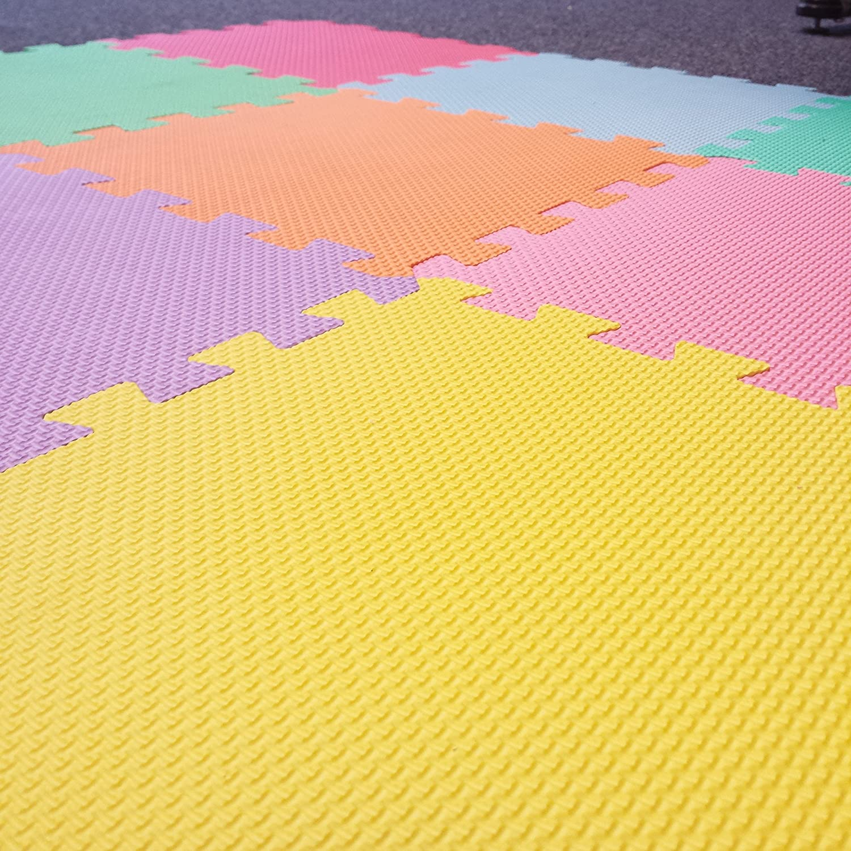 22 Piece Wavy Edging Edz Kidz Interlocking Foam Play Mat Set
