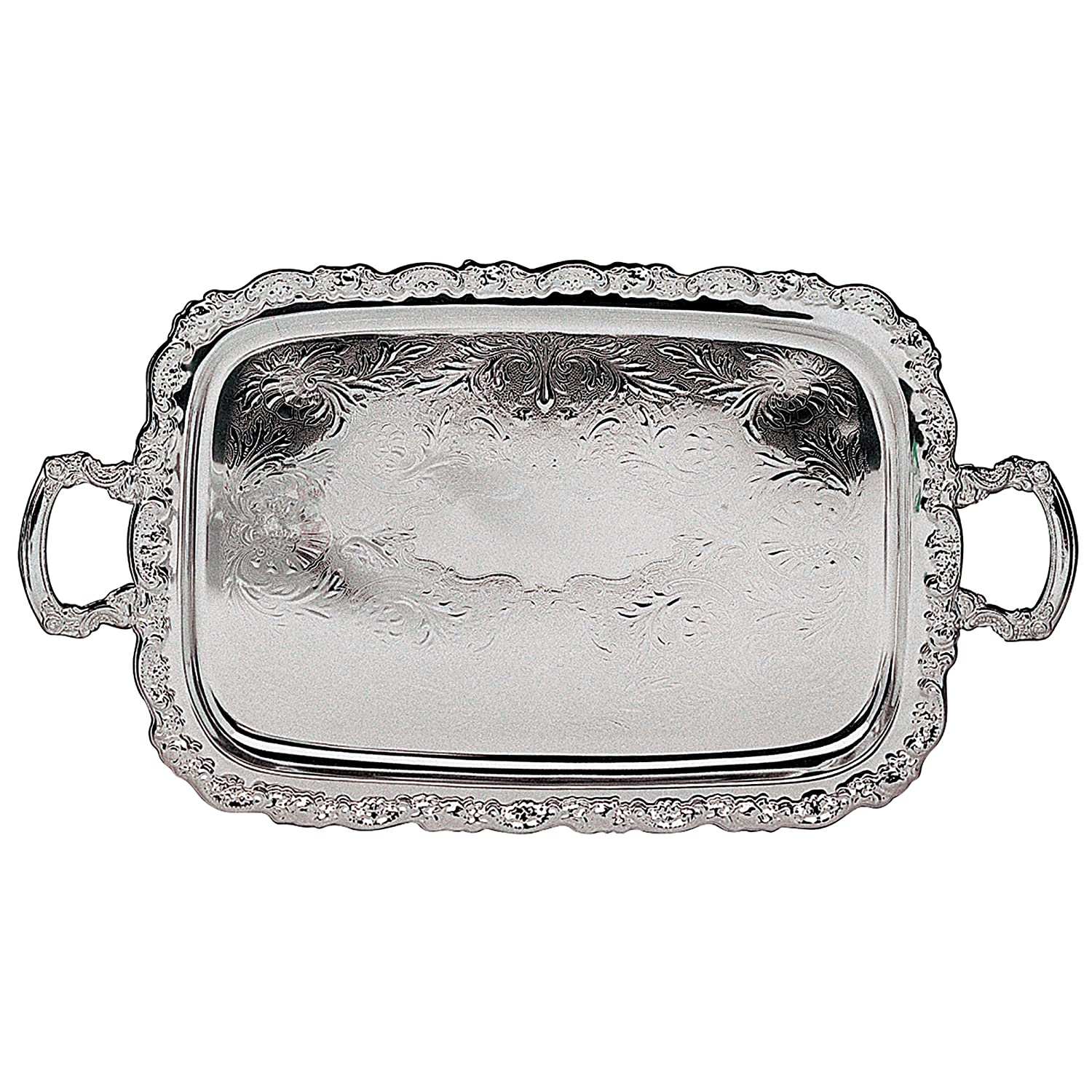 Excellent Amazon.com: Elegance Silver Ashley Silver Plated Tray With Handles  RR04
