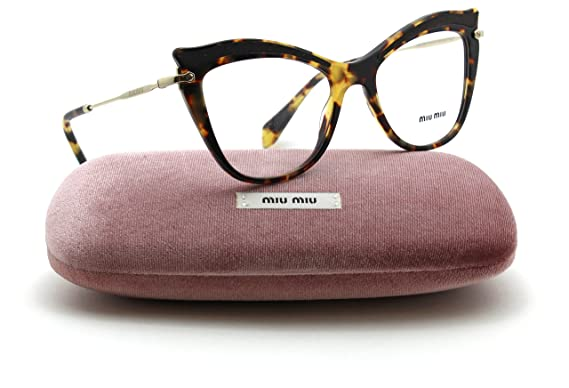 f180117d146 Miu Miu MU 06PV Women Cat Eye RX - able Eyeglasses (LIGHT HAVANA VIF1O1