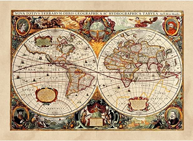 Cartina Antica Mondo.Poster Tela Canvas Antica Mappa 1646 Mondo World Cartina Geografica Mondo Arredamento 30x40cm Tela Canvas Amazon It Casa E Cucina