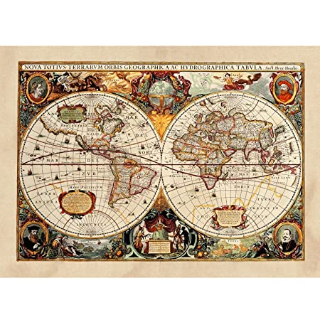 Cartina Geografica Mondo Poster.Poster Tela Canvas Antica Mappa 1646 Mondo World Cartina