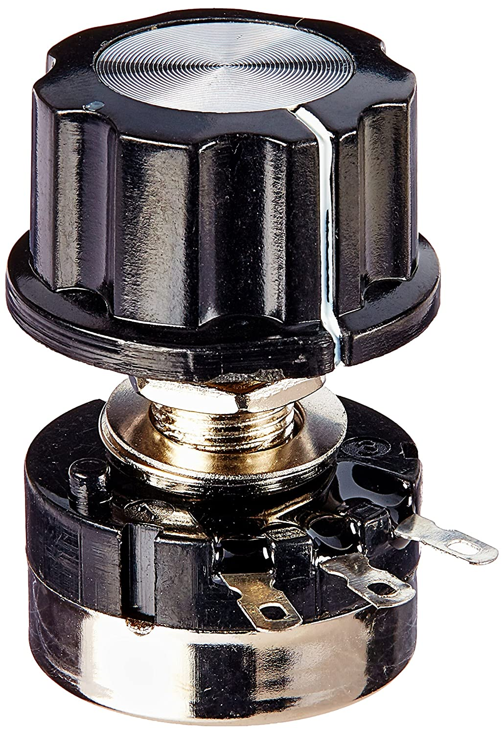 Uxcell RV24YN20S Single Turn Carbon Film Rotary Taper Potentiometer with Knob, 10K Ohm a13060500ux0051